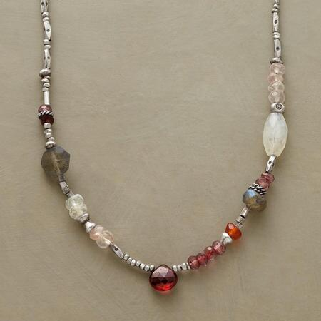GARNETS AND MORE NECKLACE