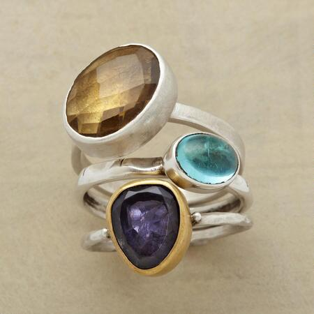 THREE STONE RING TRIO