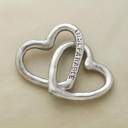 INSEPERABLE HEARTS, SET OF 2
