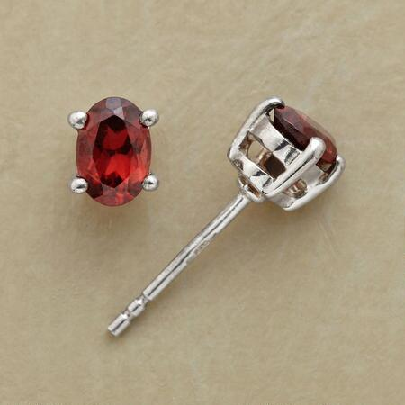 FIERY GARNET EARRINGS