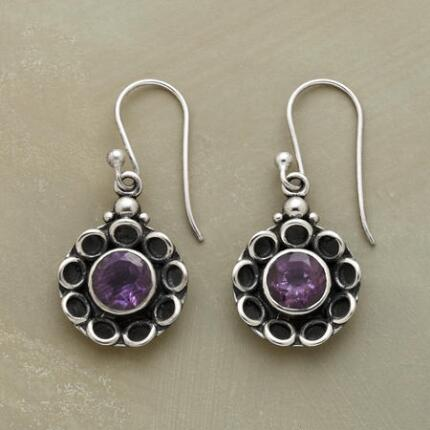 AMETHYST BLOSSOM EARRINGS