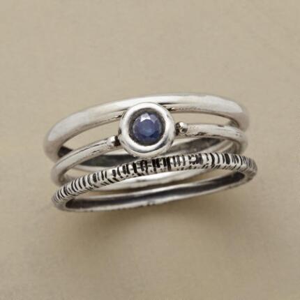 BLUE EYED RING TRIO