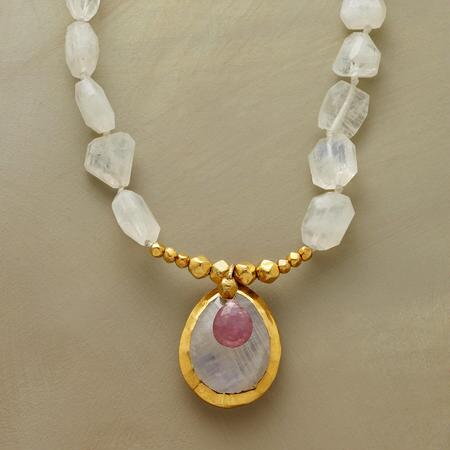 RUBY AND MOONSTONE NECKLACE