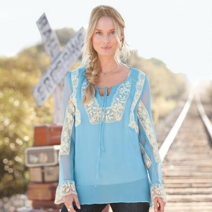 BLUE HEAVEN SILK TUNIC