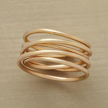 A handcrafted twist ring that will perfectly wrap up your ensemble.