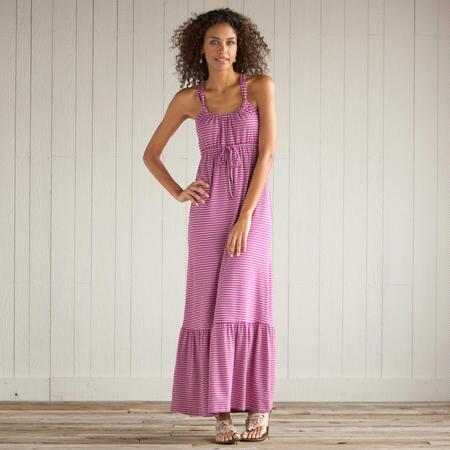 RESORT STRIPE MAXI DRESS