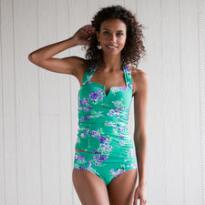 RETRO ROSE TANKINI TOP