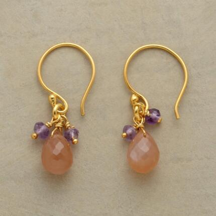 PEACH AND PURPLE EARRINGS