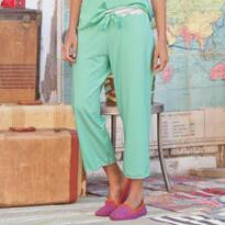 CROPPED PJ PANT SOLID WITH LACE