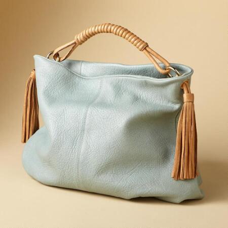 TASSELED SLOUCH BAG