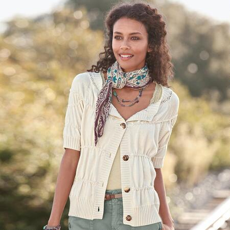 RUCHED & RELAXED CARDIGAN