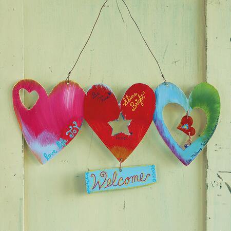 HEART WORDS HANGING