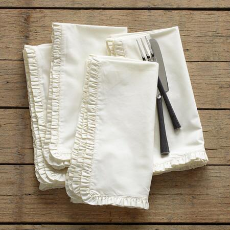 COUNTRY RUFFLE NAPKINS S/4