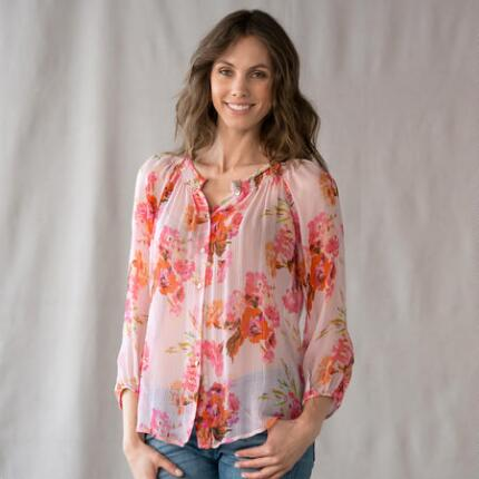 MEGANS BLOUSE-BLUSH