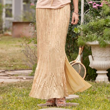 CHAMPAGNE PLEAT SKIRT