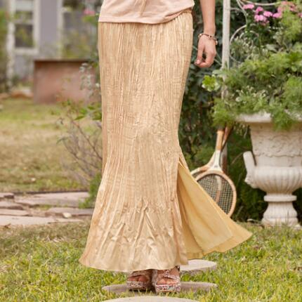 CHAMPAGNE PLEAT SKIRT PETITES