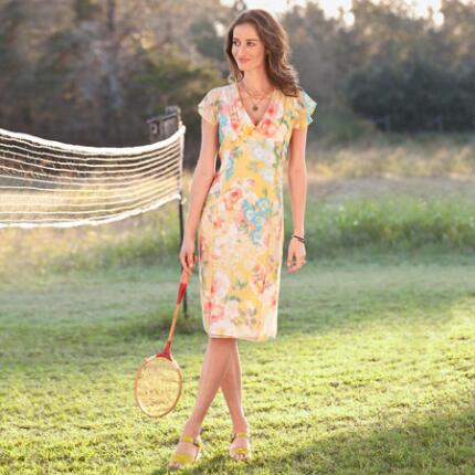 CHARLESTON SILK CHIFFON DRESS
