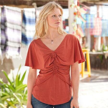 ROSE CAPELET TEE