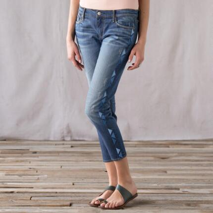 EYE-CATACHING SANTA FE CROPPED JEAN