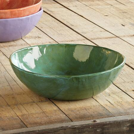 This beautiful Rebecca Wood earthenware serving bowl is a usable work of art.