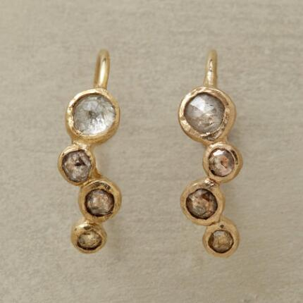MEANDERING DIAMOND EARRINGS