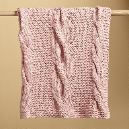 PINK CABLES THROW
