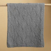 KNIT & PEARL GRAY LATTICEWORK THROW