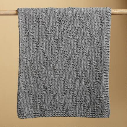 GREY LATTICEWORK THROW