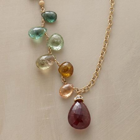 JEWEL DROP NECKLACE