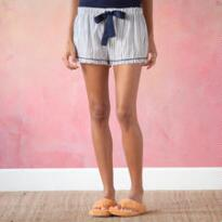 SASSY STRIPE SLEEP SHORTS