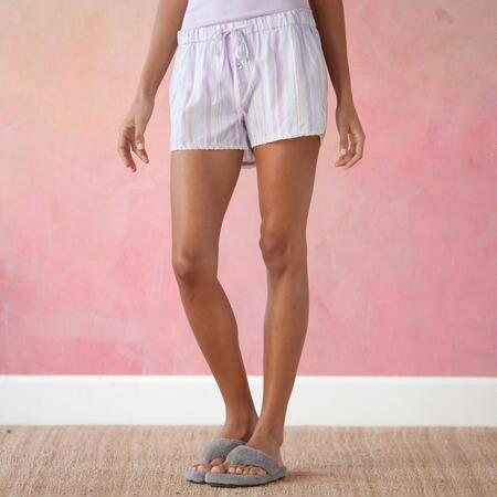 OFF THE CLOCK STRIPE SHORTS