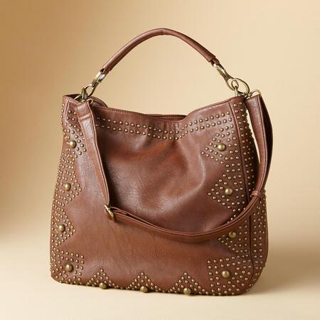 STAR STUDDED SHOULDER BAG