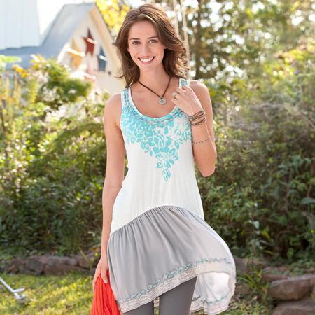 BREEZY HI-LO TUNIC