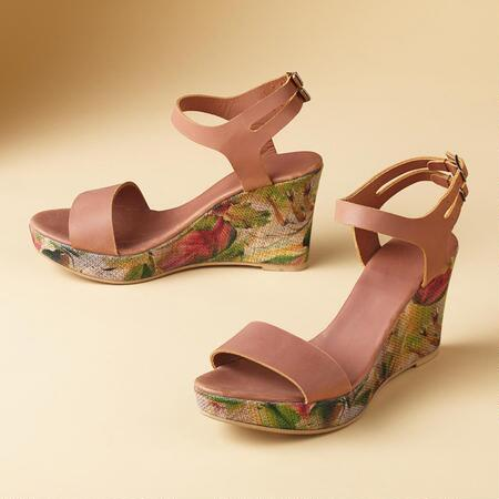 WATERCOLOR BLOOM SANDALS
