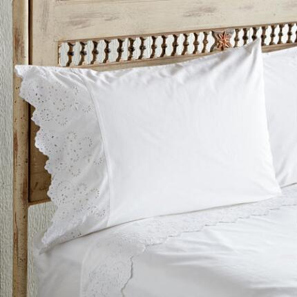 ELYSIAN EYELET PILLOWCASES, SET OF 2