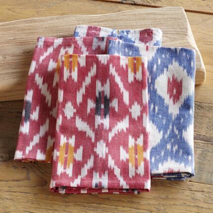 BRIGHT IKAT DISH TOWELS S/4