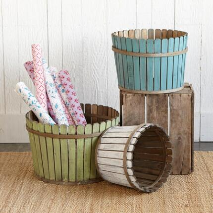 PICKET FENCE BASKETS S/3