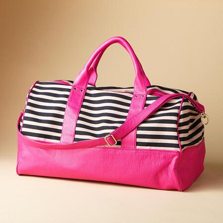 FUN OF ALL STRIPES WEEKENDER BAG
