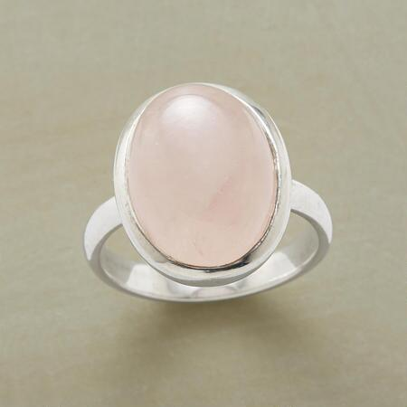 Bright and sweet, this rose quartz silver bezel ring will be an instant favorite.