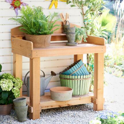 RED CEDAR POTTING BENCH