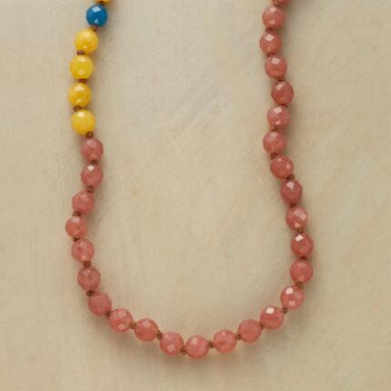 In lovely mellow hues, this Chan Luu colorful jade necklace makes a unique statement.