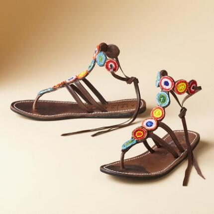 BEADED TRIBAL SANDALS
