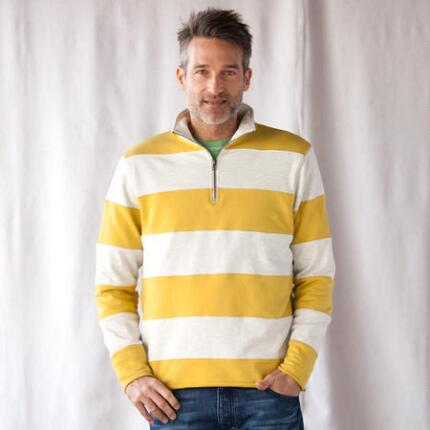 REGATTA STRIPE 1/4 ZIP PULLOVER