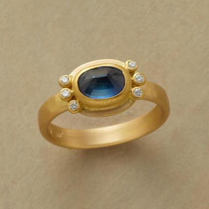 An Ananda Khalsa Diamond & sapphire ring that delivers heaven here on earth.