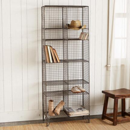 Our tall free-standing storage shelf will be a natural fit in any space.