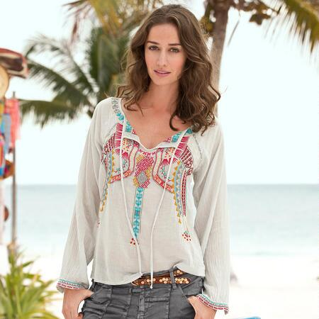MAYA EMBROIDERED BLOUSE
