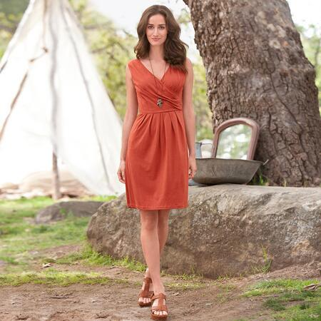 WRAP AND PLEAT DRESS