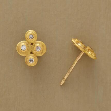 DIAMOND DISK EARRINGS