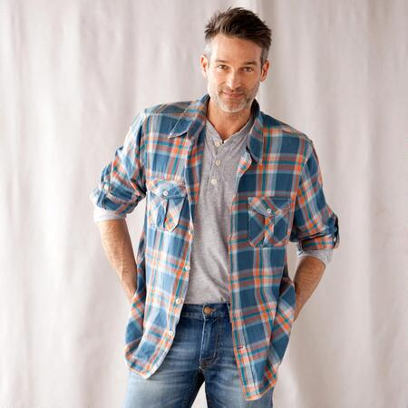 BLUE MOUNTAIN PLAID SHIRT