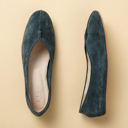 These lotus petal flat shoes combine comfort with a streamlined sense of elegance.